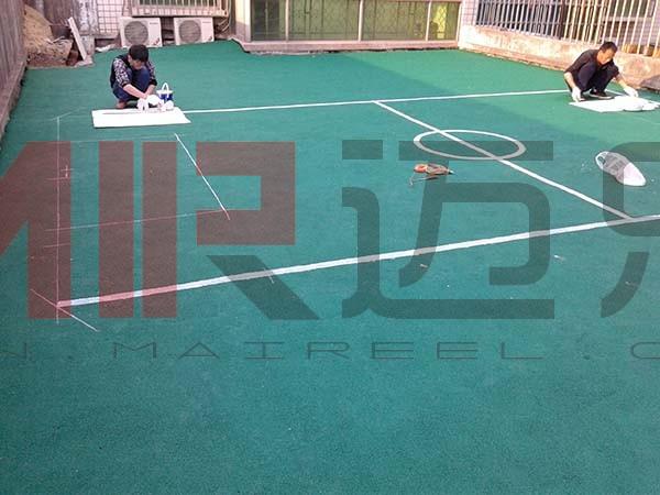 湖南长沙幼儿园epdm颗粒足球场图