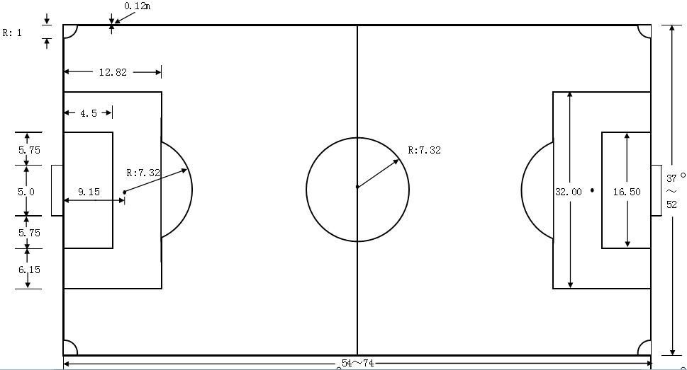 7人制标准足球场尺寸