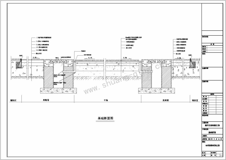 湖南人造草坪足球场施工设计图400米塑胶跑道施工设计