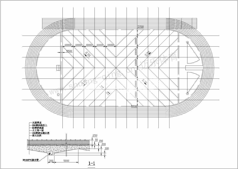 天然草皮足球场地施工设计图 湖南塑胶跑道铺装材料
