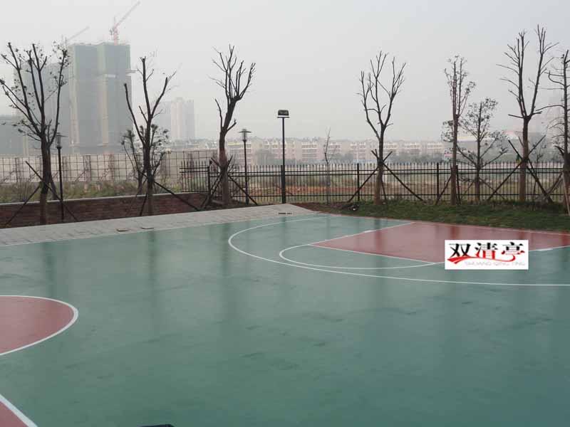 长沙双水湾小区硅pu篮球场