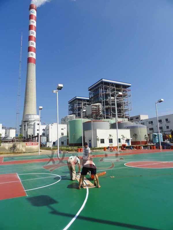 篮球场 硅pu网球场 硅pu排球场施工效果图方案 邵阳市双清区