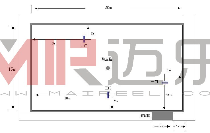人造草坪门球场标准尺寸规范图