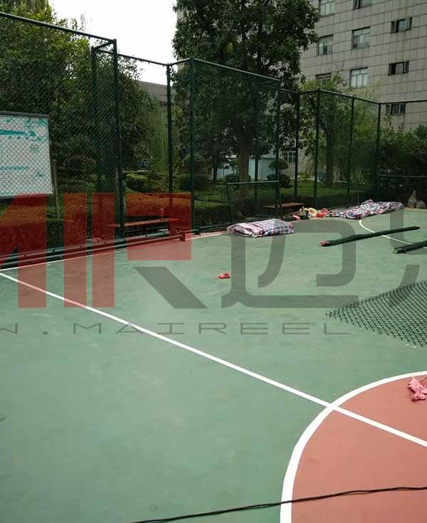 篮球场围网施工