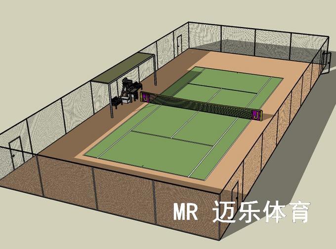 网球场围网设计图