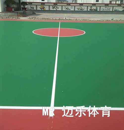硅PU篮球场地施工