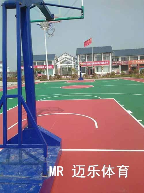 塑胶篮球场地建设