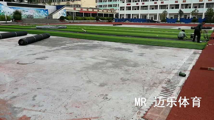 湖南人造草坪足球场施工