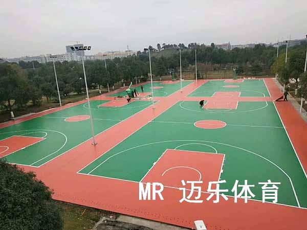 湖南篮球场施工