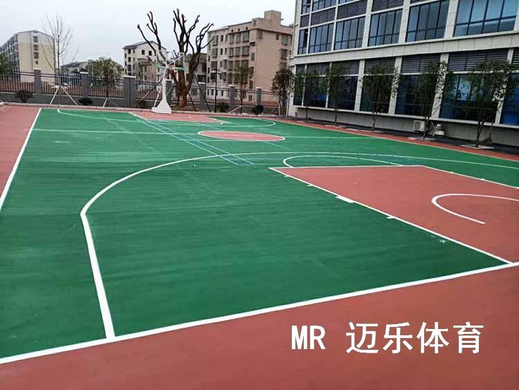 长沙丙烯酸篮球场施