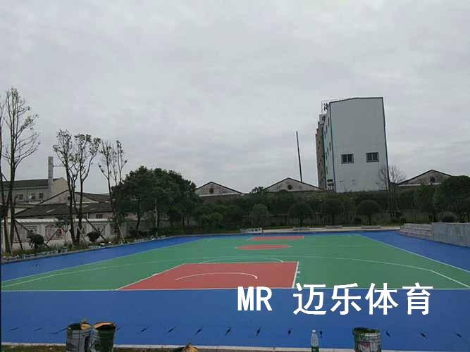 长沙硅PU篮球场施工