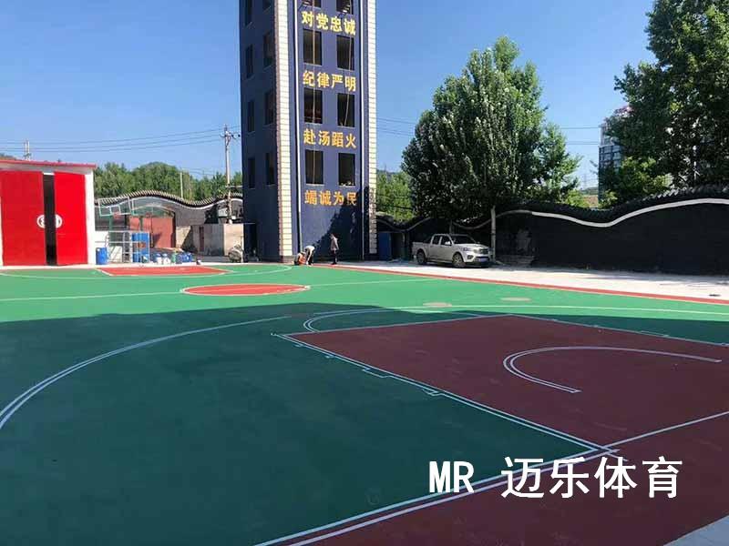 长沙篮球场施工
