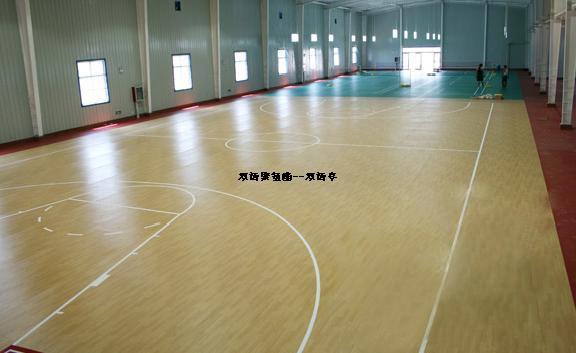 篮球场的规格   篮球比赛场应是一个长方形的坚实平面,无障碍物。标准的比赛场地长度为 28m 宽度为15m 天花板或最低障碍物的高度至少应为 7m 。篮球场的长边界限称边线,短边的界限称端线球场上各线都必须十分清晰,线宽均为 0.05m 。以中线的中点为圆心,以1.