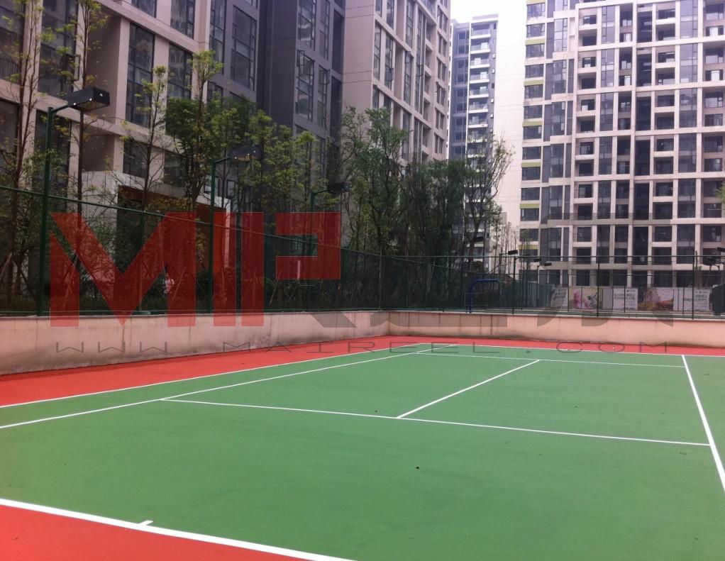 硅PU塑胶弹性网球场地