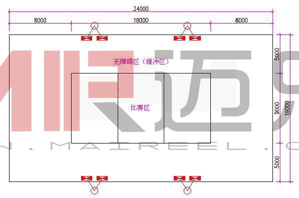 排球场地标准尺寸 人造沙滩排球场的标准尺寸