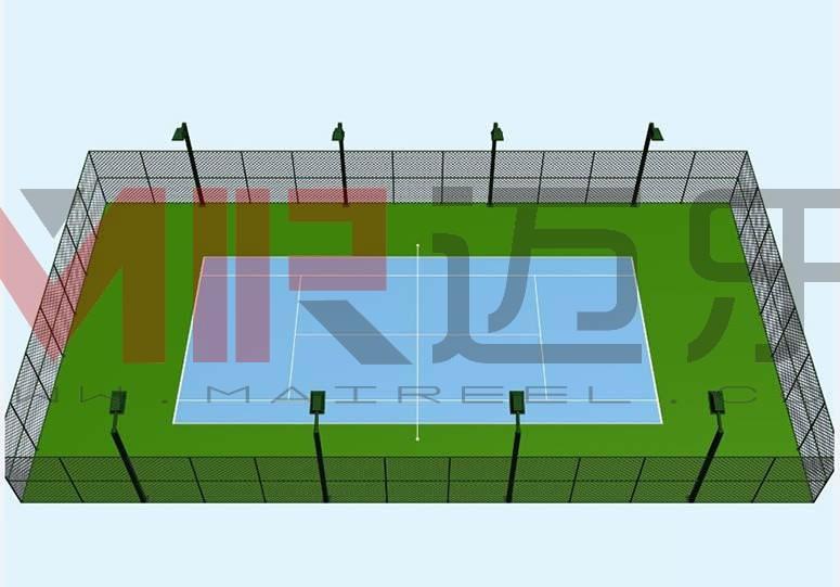 标准网球场地设计效果图