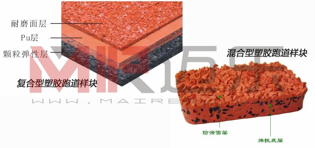 塑胶跑道结构图