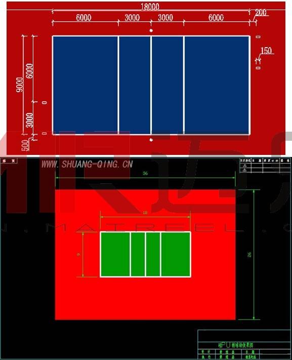 标准排球场地尺寸图