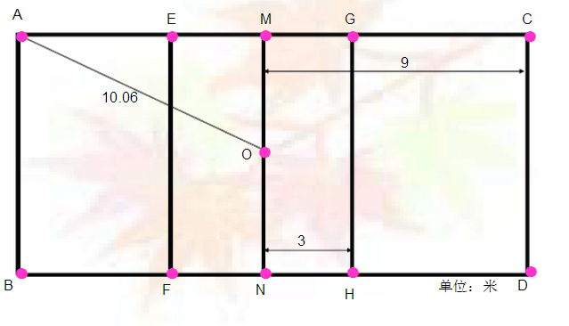 排球场地画法