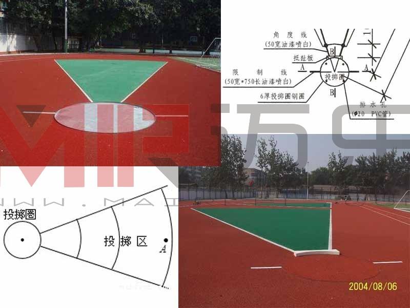 铅球场地标准示意图