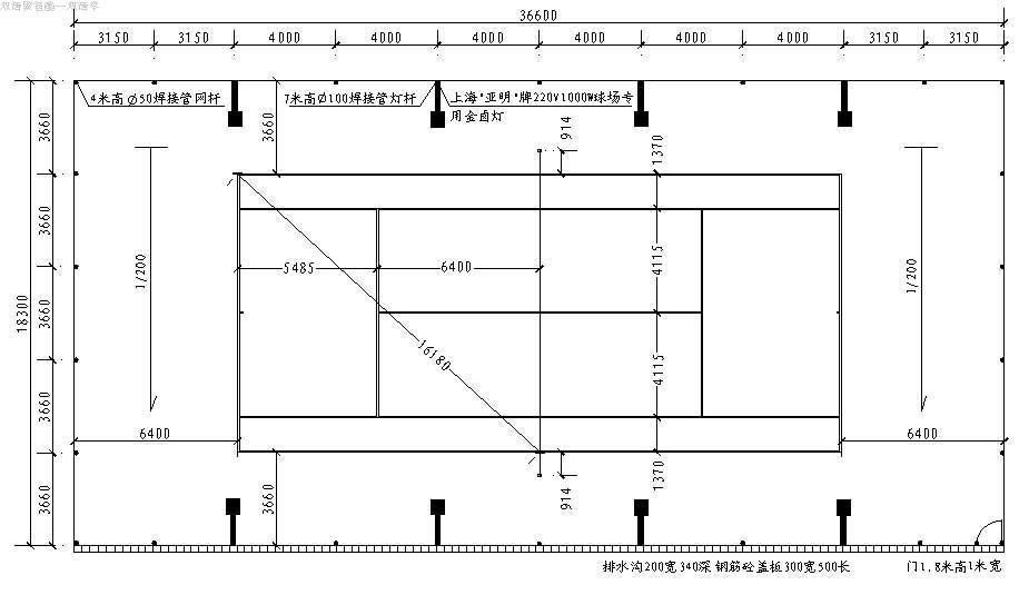 网球场标准_网球场的标准尺寸_co土木在线原网易土木在线