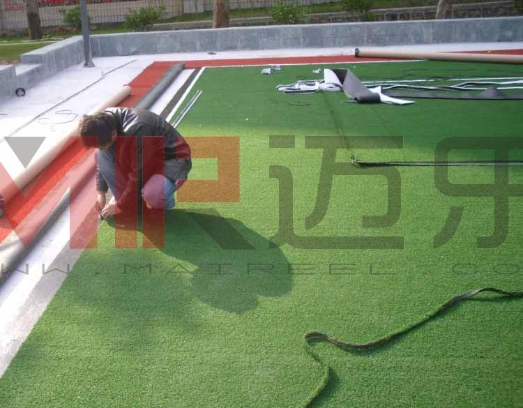 人造草坪门球场施工工艺