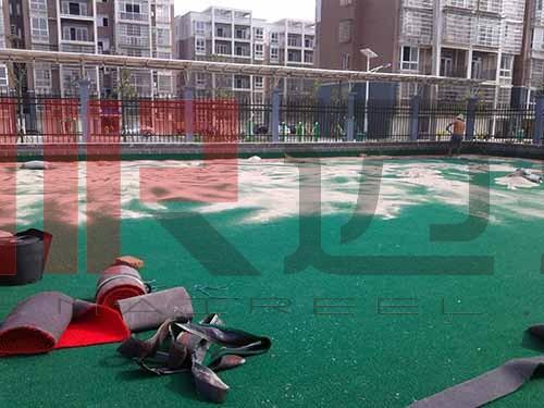 人造草坪门球场地施工