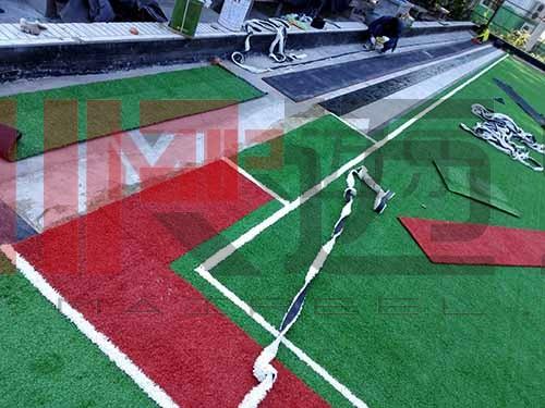 湖南人造草坪门球场地施工